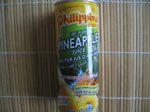 Ananassaft, 100%,  Philippine Brand, 250ml