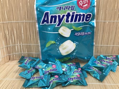 Anytime Milk and Mint Candy, Milch und Minze Bonbon, zuckerfrei, Lotte, 74g