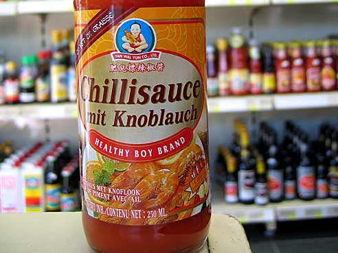 Chiliso�e mit Knoblauch, Healthy Boy Brand, 250ml