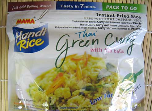 Handi Rice, Green Curry, Mama Thai Food, 80g