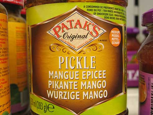 Patak`s Pickles, mildes Mango Pickle, 283g