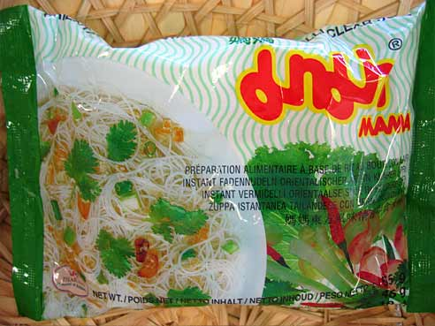 Klare Suppe, dünne Reisnudeln, Mama Thai Food, 1x55g