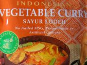 Indonesian, Vegetable Curry, Sayur Lodeh, AHG, 50g