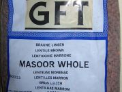 Masoor whole, braune Linsen, GFT, 500g